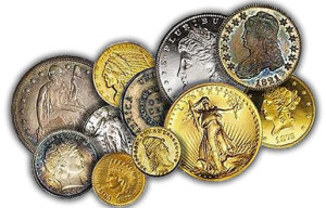 old gold and silver coins