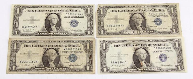 43179 - 4 - US SILVER CERTIFICATES 1935E 1935H 1957 9157B